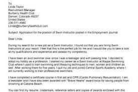 Certification Letter Sle Swim Instructor Cover Letter