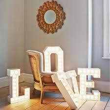 rustic metal letters home decor new lighting distinctive