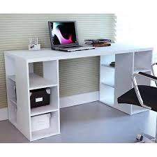Desk Organizer Shelves Desk W Storage Shelves White Home Office Student Study Table Ebay