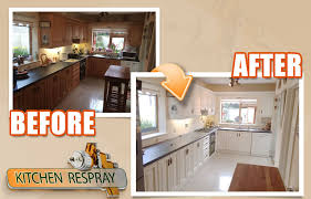 how much does it cost to respray kitchen cabinets kitchen resprays finish is factory like and never chips it is super