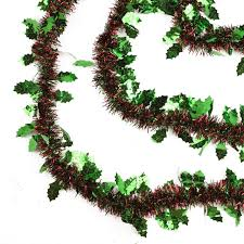 tinsel garland 50 shiny green christmas tinsel garland with green