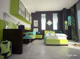 Green Wall Bedroom Decorating Ideas Bedrooms Green And Grey Bedroom Swirl Patterned Feature Wall A