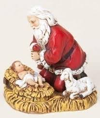 amazon com joseph u0027s studio kneeling santa with baby jesus