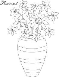 download coloring pages flower pot coloring page flower pot