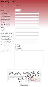 booking forms professional booking form template scripts for