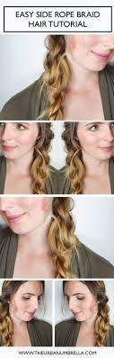 hair tutorial the 25 best rope braid tutorials ideas on pinterest twist braid