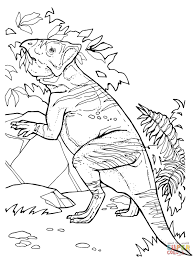 pachycephalosaurus cretaceous period dinosaur coloring page free