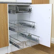 panier de cuisine paniers coulissants pour meubles cuisine 3pcs tiroir de rangement