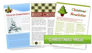 christmas newsletter templates free 2017 best template examples