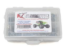rc grave digger monster truck for sale axial smt10 grave digger stainless steel kit by rc screwz