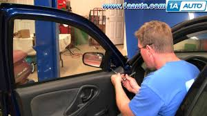 how to install replace manual side rear view mirror chevy cavalier