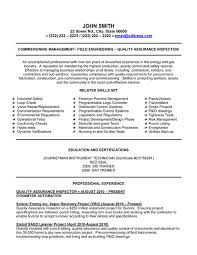 quality assurance resume assurance inspector resume sle template