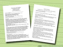 Sample Resume Curriculum Vitae by How To Write A Cv Or Curriculum Vitae With Free Sample Cv