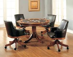 Dining Table  Dining Table Set With Caster Chairs Casual Dining - Caster dining room chairs