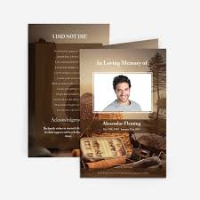 funeral card template fishing funeral card funeral phlets