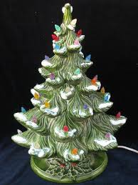 retro vintage ceramic table top tree electric lights