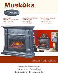 muskoka electric fireplace insert manual electric fireplace heat