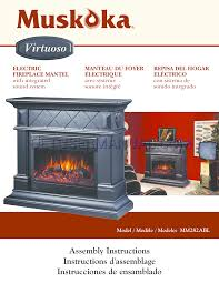 muskoka electric fireplace manual heat