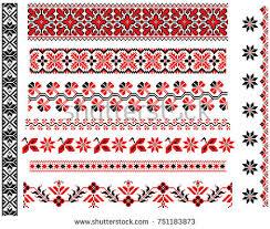 cross stitch pattern set free vector stock