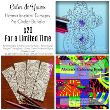 henna inspired designs coloring book bundle followell s finds