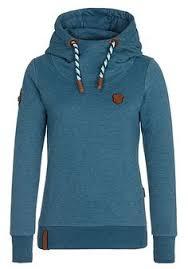 naketano brazzo jeck ii hoodie met rits voor dames blauw