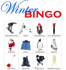 holiday bingo template january is winter pinterest bingo
