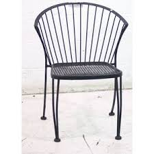 Black Patio Chair Used Outdoor Dining Patio Seating Black Metal Chair Sku 153512 Sold