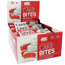 optimum nutrition protein cake bites red velvet 12 bars 2 19