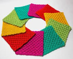 rainbow coasters knitting patterns rainbows and patterns