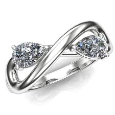 two diamond ring diamond engagement ring two with infinity symbol