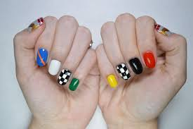 indy 500 nail art tutorial youtube