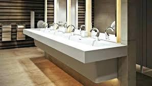 trough sink with 2 faucets trough sink with 2 faucets wide bathroom two mesmerizing double