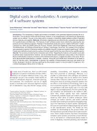 digital casts in orthodontics a comparison of 4 software systems