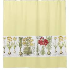 Yellow Flower Shower Curtain Floral Shower Curtains Zazzle
