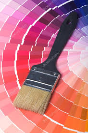 colorful paint color swatches u2014 stock photo laures 1121680