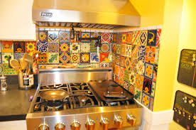 mexican tile backsplash kitchen eclectic mixed talavera tile backsplash
