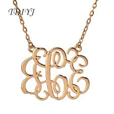 monogram jewelry cheap online get cheap monogram jewelry initials aliexpress