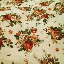 Large Floral Print Curtains Curtains Vintage Rose Cotton Fabric White Fabric Amazing Vintage