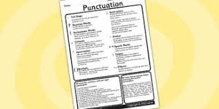 punctuation primary resources punctuation spag spag page 7