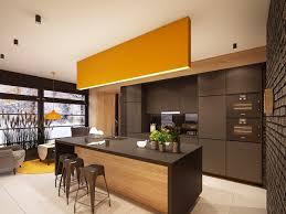 Kitchen Cabinet Lights Kitchen Yellow Accent Kitchen Features Natural Wood Kitchen