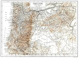 Map Of The United States With States by Large Detailed Old Map Of Oregon State With Relief 1911 Oregon