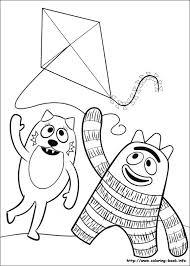 gabba gabba coloring picture
