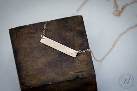 necklace with kids initials gold bar necklace betsy farmer designs