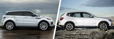 land rover lr2 lifted range rover evoque vs bmw x3 comparison carwow