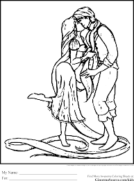 tangled coloring pages ginormasource kids