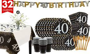 40th Bday Decorations Sparkling Celebration 40th Birthday Party Supplies Party City