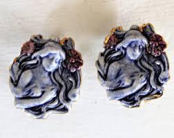 earring plasters plaster cameo etsy