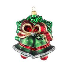 Christmas Ornament Wedding Gift Olivia Riegel Red And Green Bells Ornament Limited Edition
