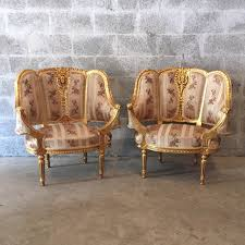 Antique French Settee French Furniture French Chairs Louis Xvi Wingbackchair Rococo