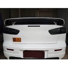 evo 10 spoiler somked led tail lights 2008 2017 mitsubishi lancer evo x led rear